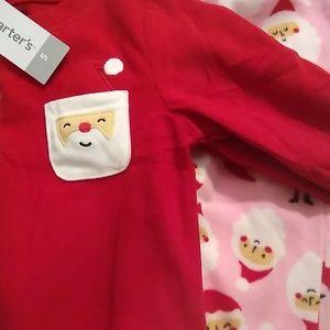 Carter's size 5T Christmas fleece pajamas
